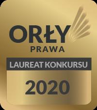 Orły Prawa Laureat Konkursu 2020 - nagroda dla Kancelarii Adwokackiej Bartosz Grube w Gdynii